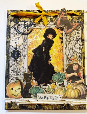 jack o lantern black witch image
