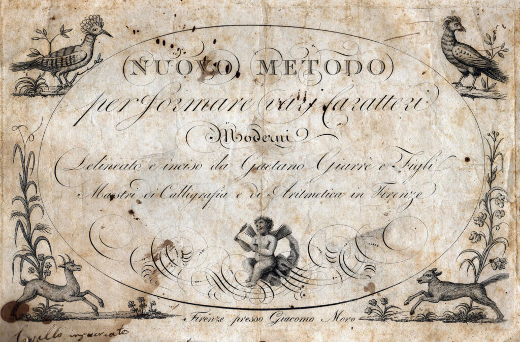 Italian script document clipart