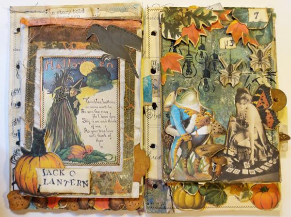 Jack O Lantern witch ephemera page