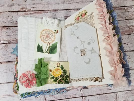 linen pocket journal page