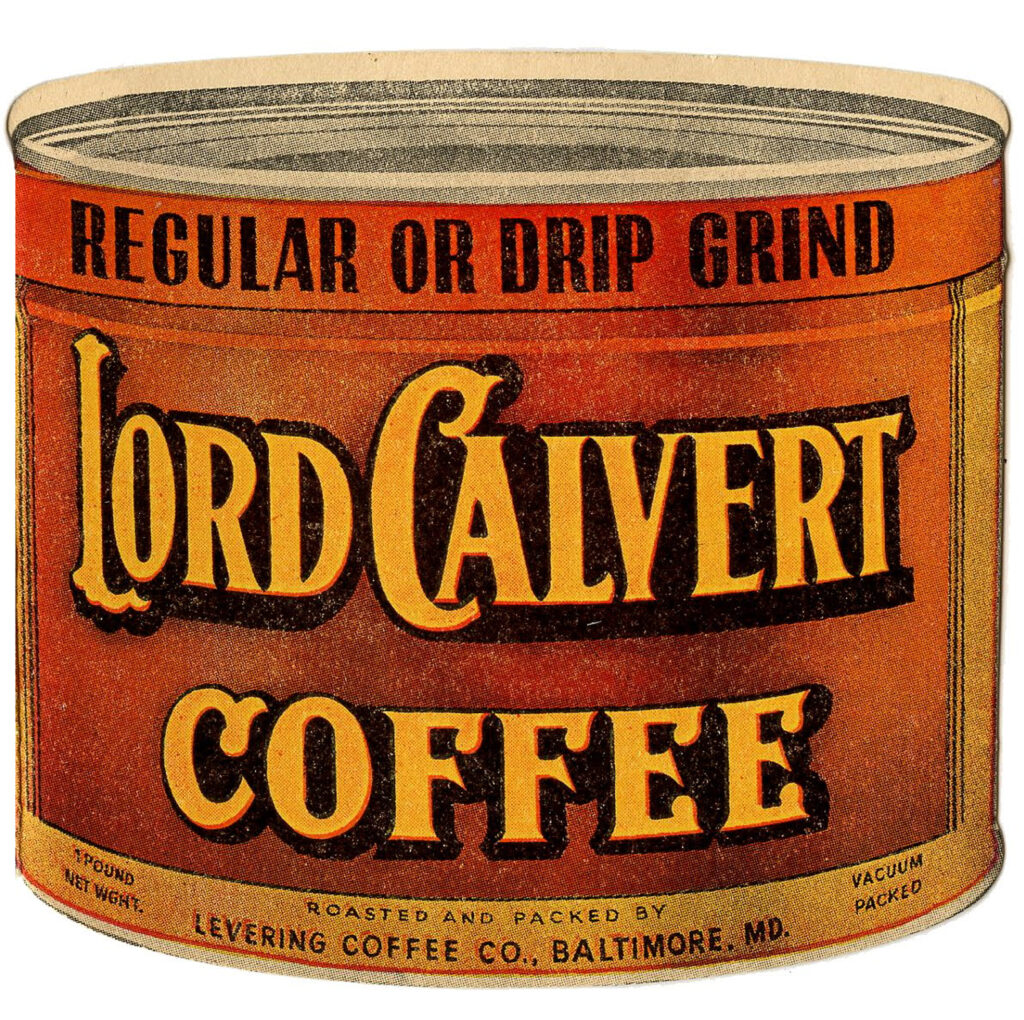 Lord Calvert Coffee container clipart