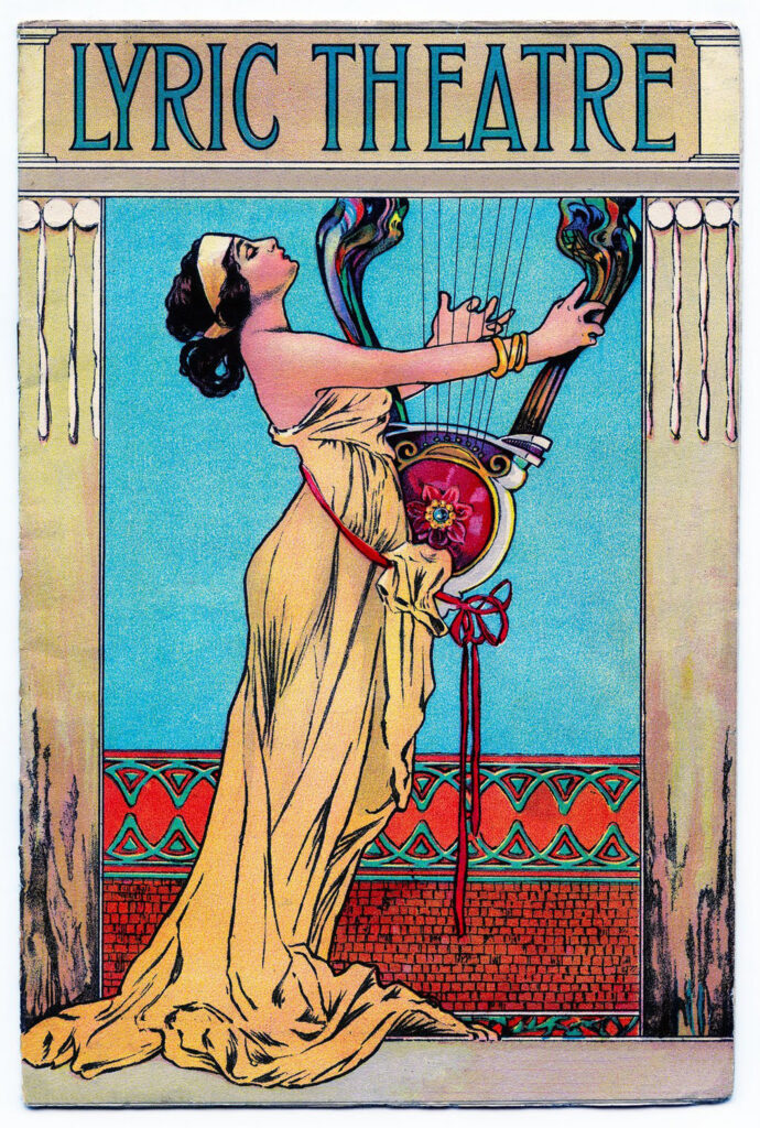 Lyric Theatre woman vintage book cover image