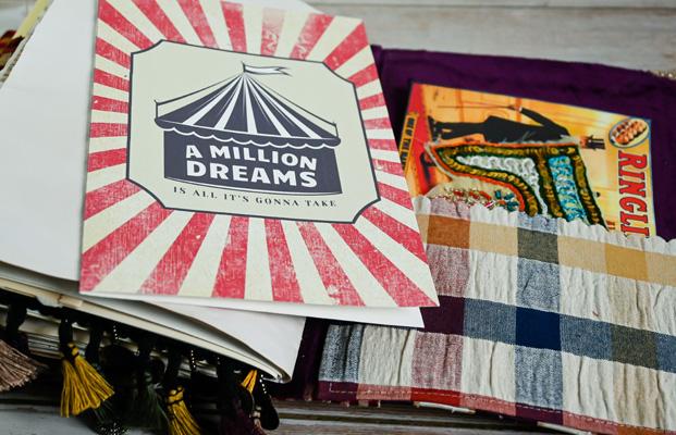million dreams circus tent ephemera