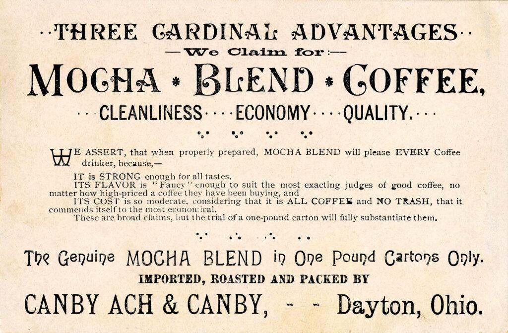 Mocha Blend Coffee Advertising Image