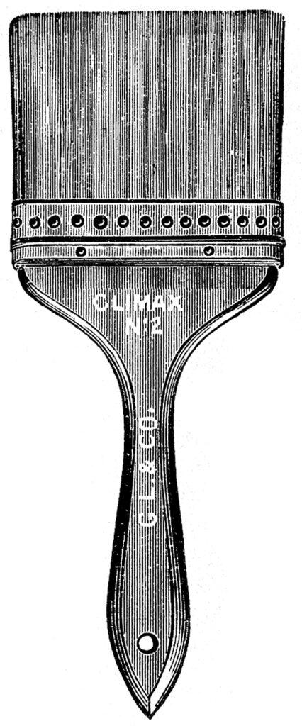 antique paint brush clipart