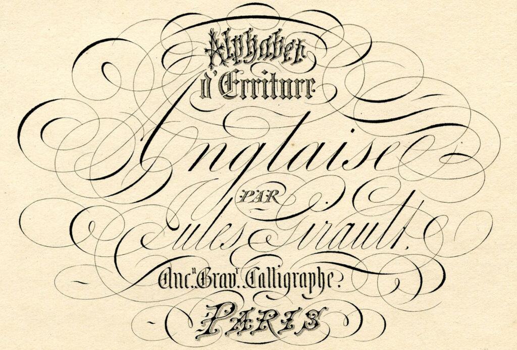 Spencerian script Paris calligraphy image