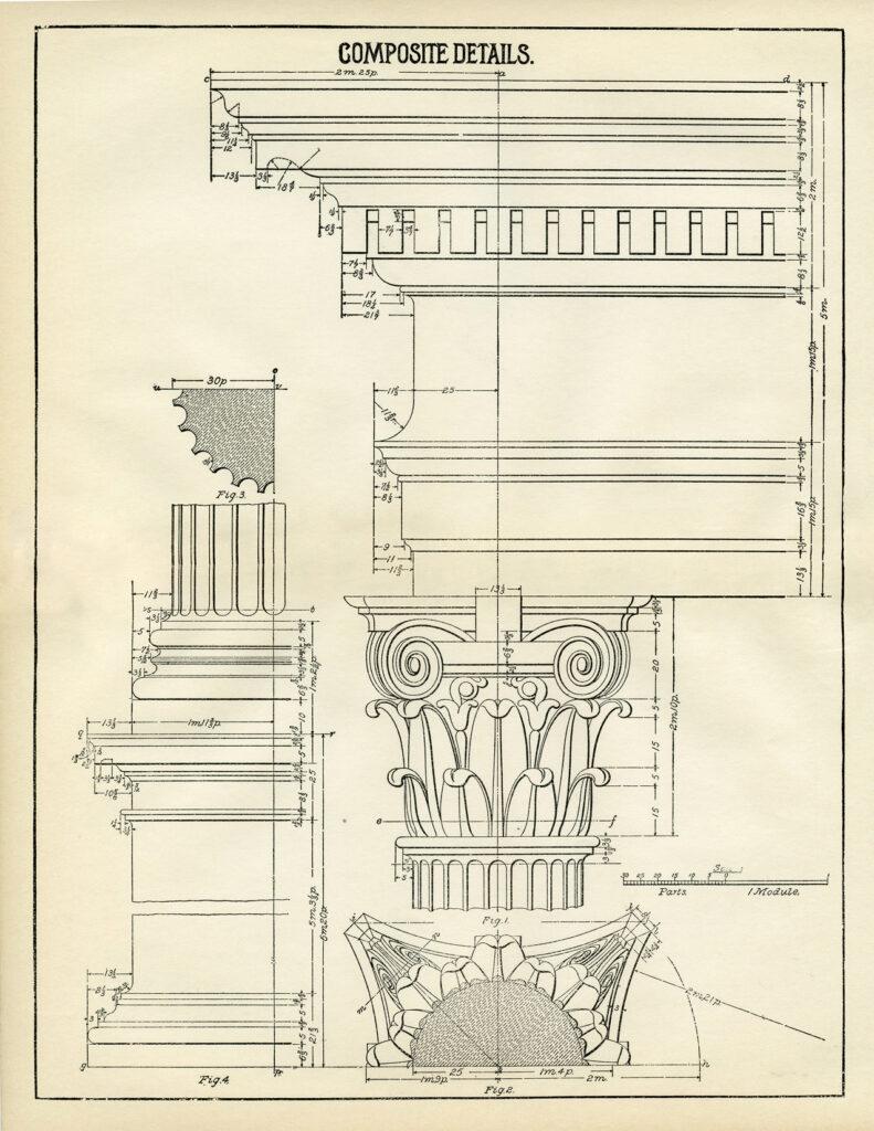 composite details architecture diagram clipart