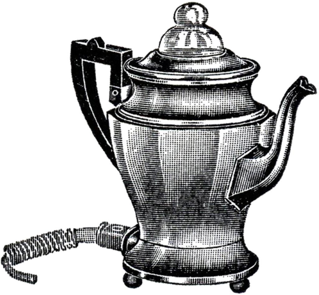 retro electric coffee percolator image