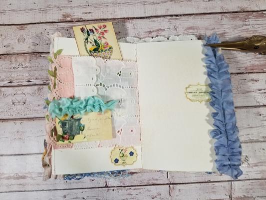 Sari silk ruffles journal pages
