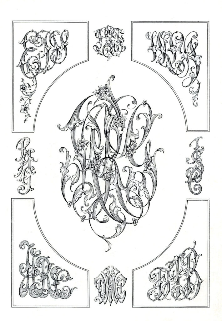 script monogram image