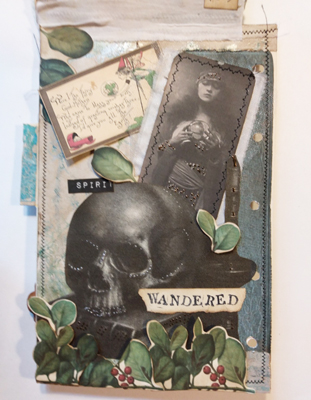 skull journal page