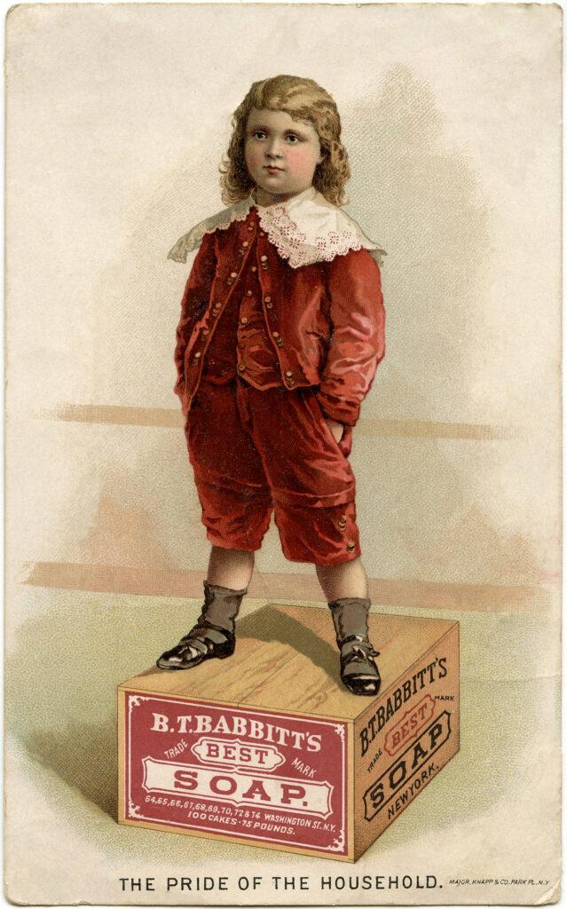 boy soap box vintage clipart