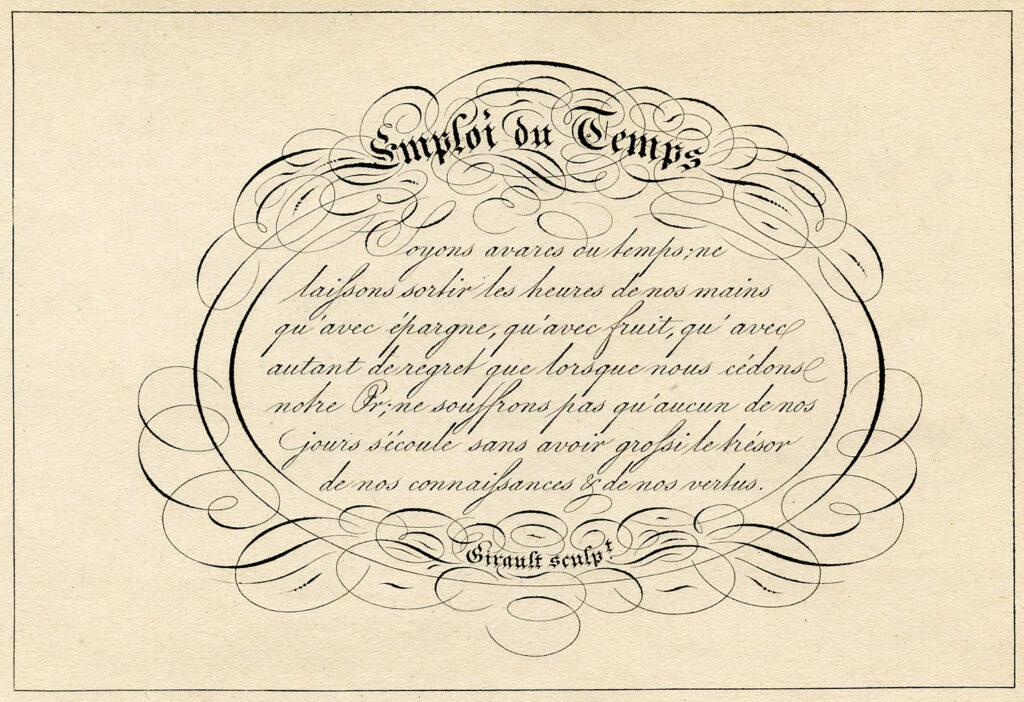 Spencerian script frame illustration