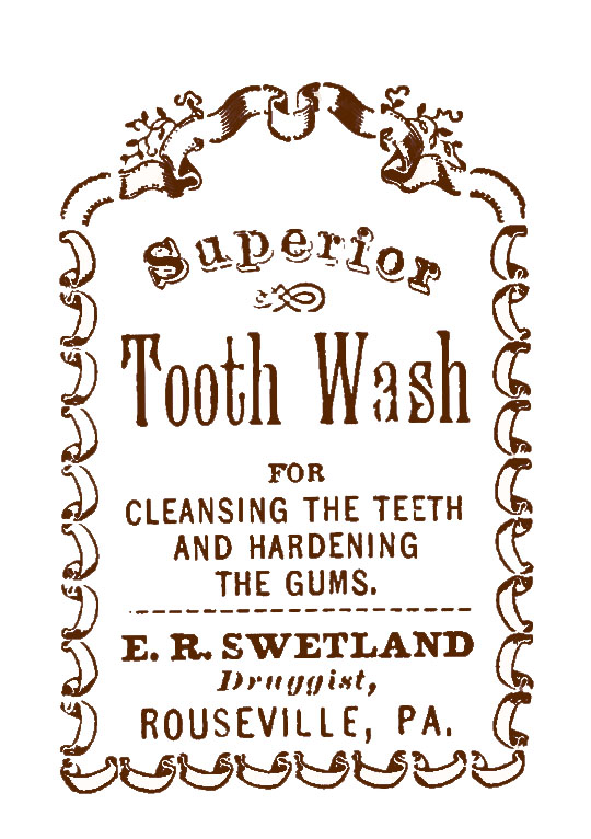 Vintage Sepia Tooth Wash Ad clipart