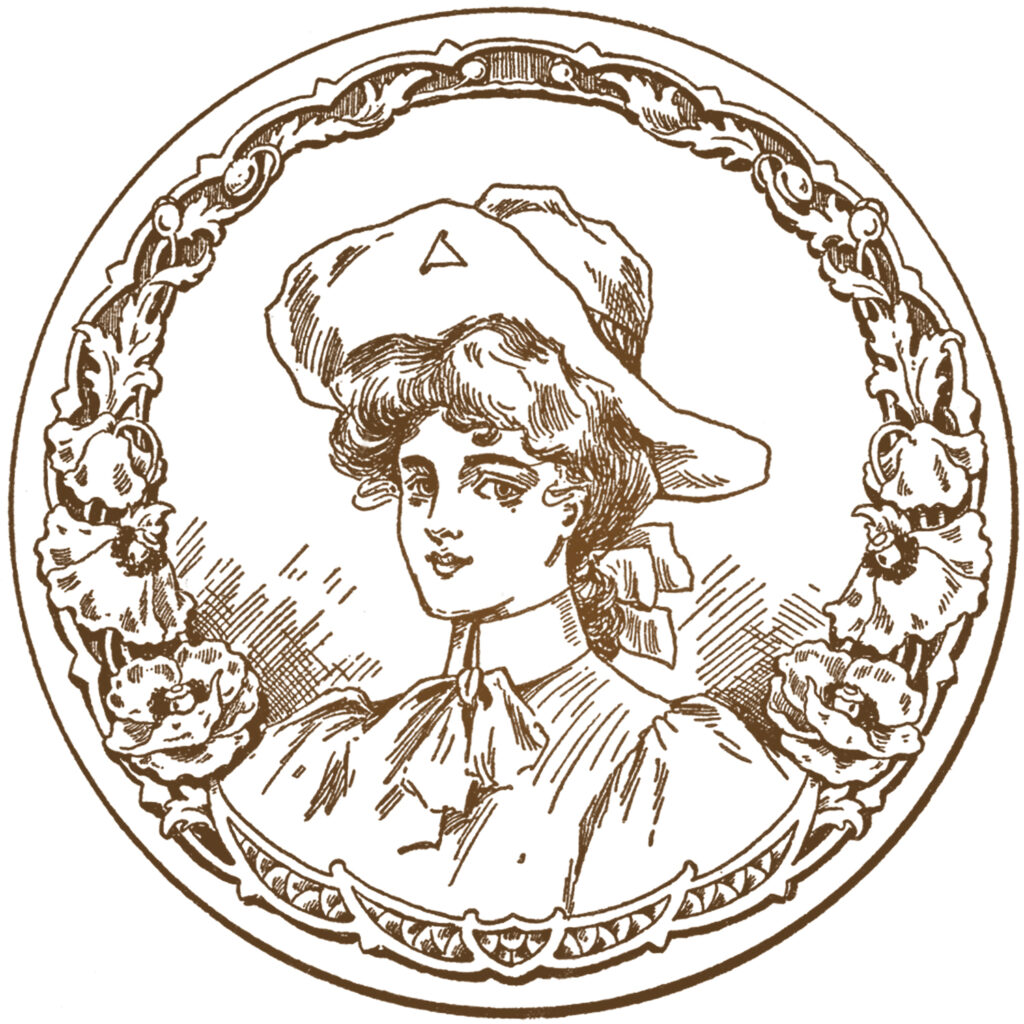 vintage cowgirl hat vintage portrait image