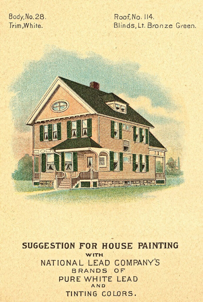 vintage house paint advertising image
