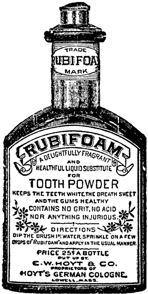 vintage tooth powder clipart