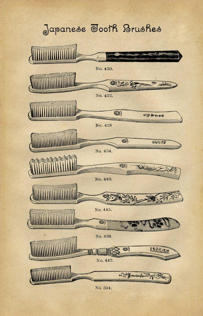 vintage toothbrushes japan image