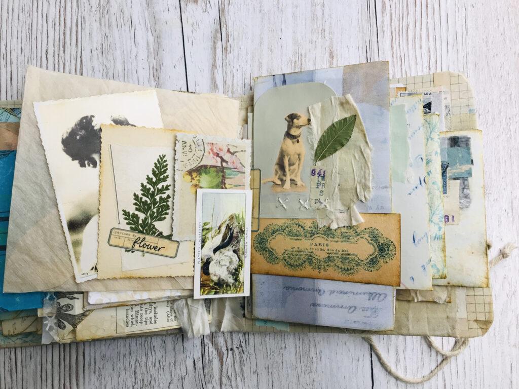 vintage dog photograph journal page