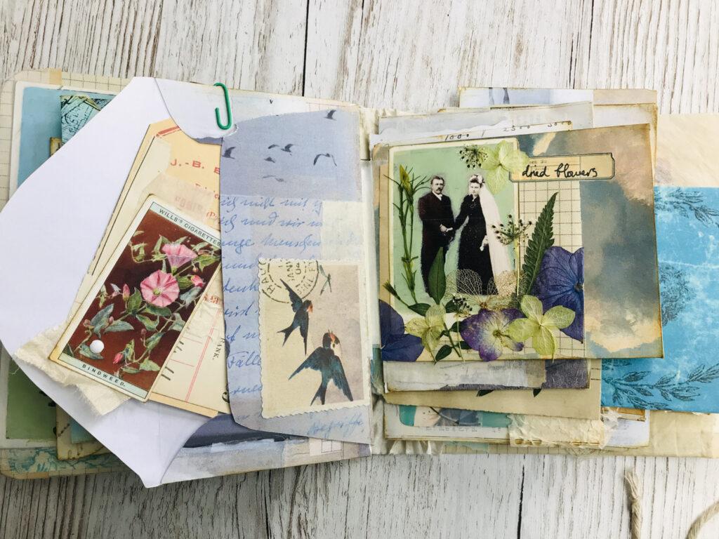 wedding couple photo journal page
