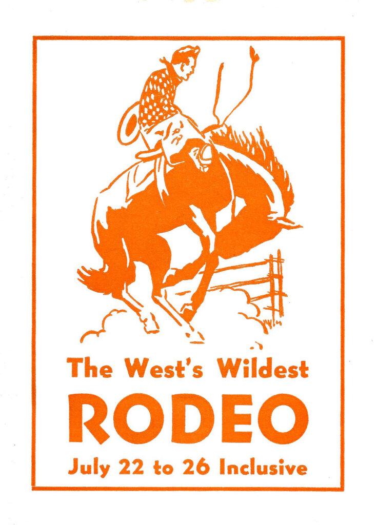 Wild West Rodeo show poster vintage illustration