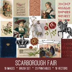 vintage Scarborough fair ephemera bundle