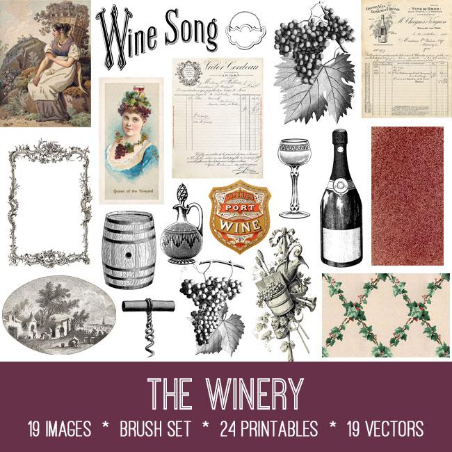 the winery ephemera vintage images