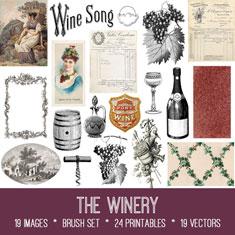 vintage the winery ephemera bundle