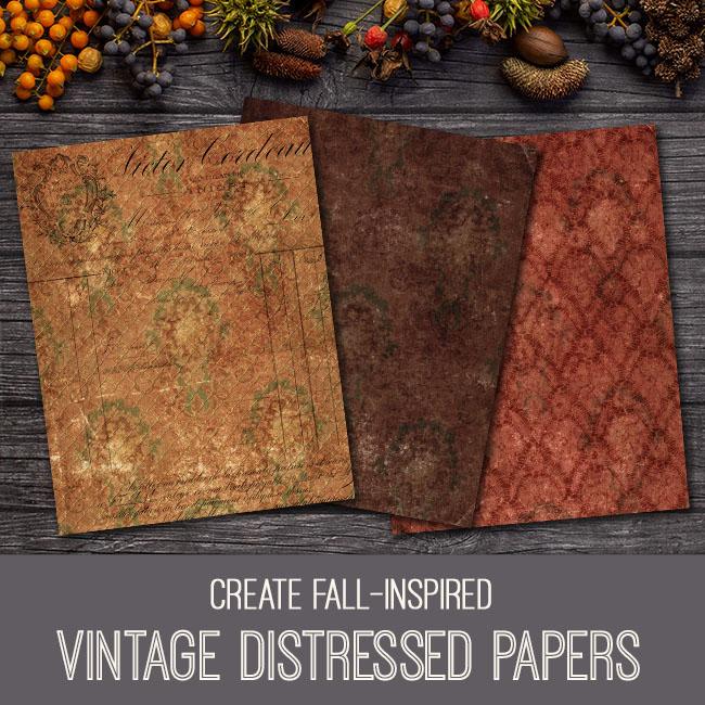 pse tutorial vintage distressed papers