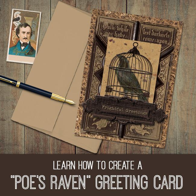 Poe's Raven Greeting Card tutorial