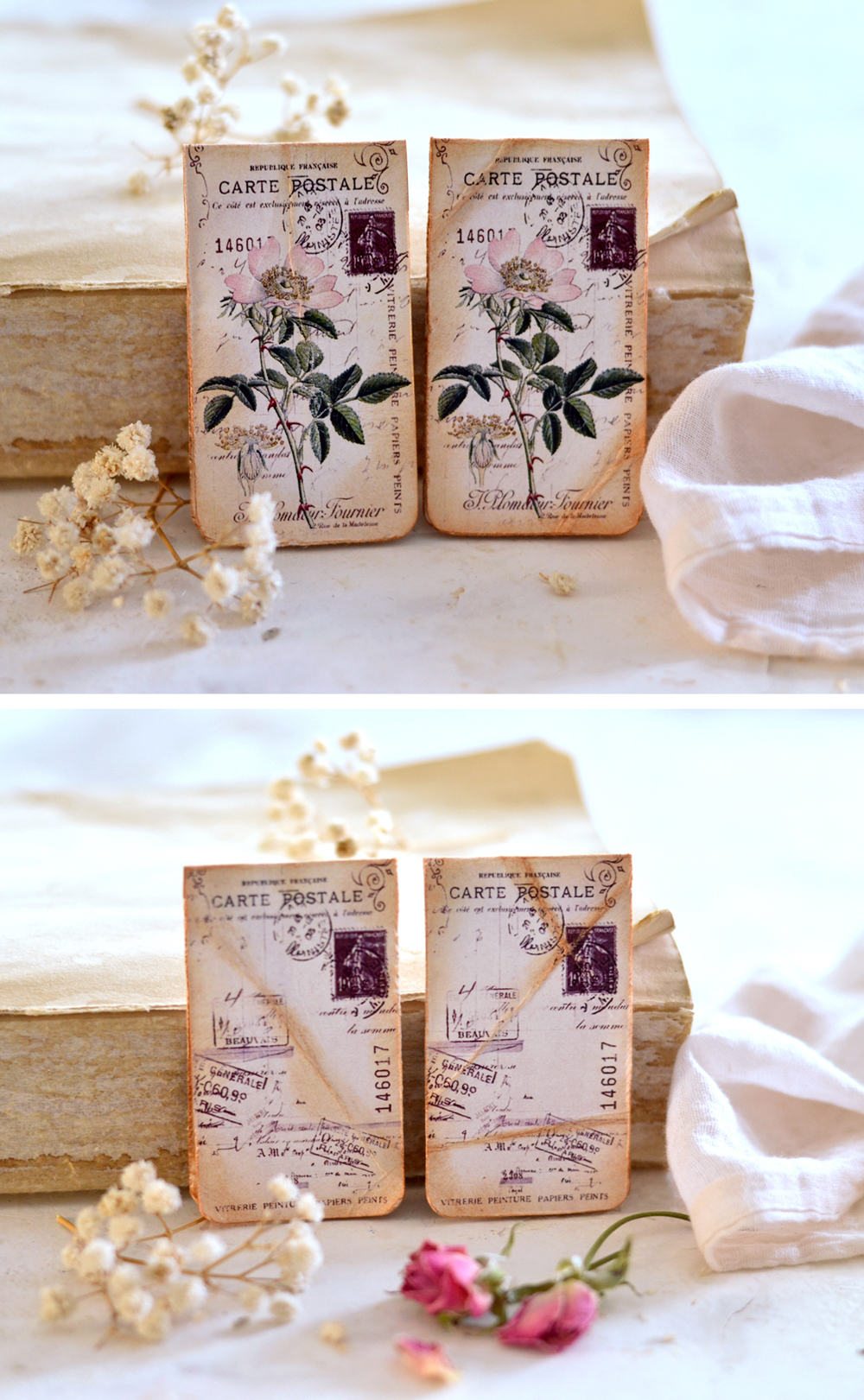 Rose bookmarks with magnets