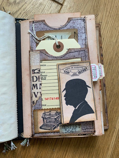 multiple layered journal pockets