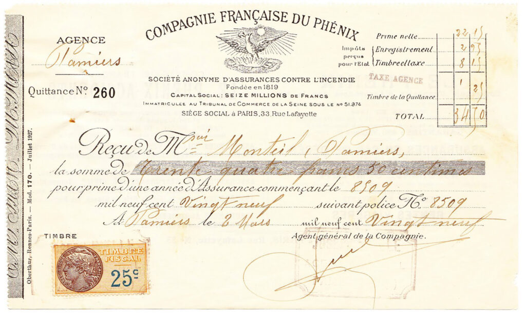 French Compagnie Miette invoice stamp image