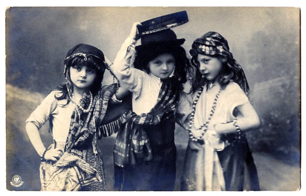 antique children gypsy costumes image