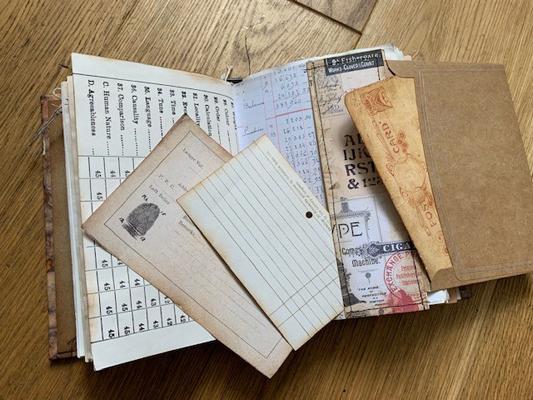Kraft envelope fold out page