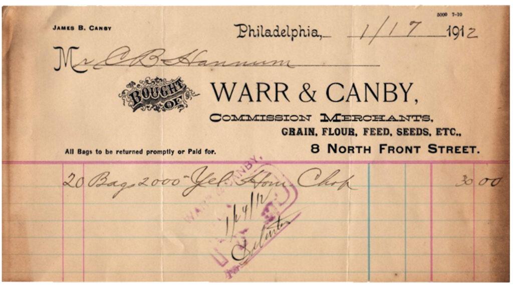 merchant invoice vintage image