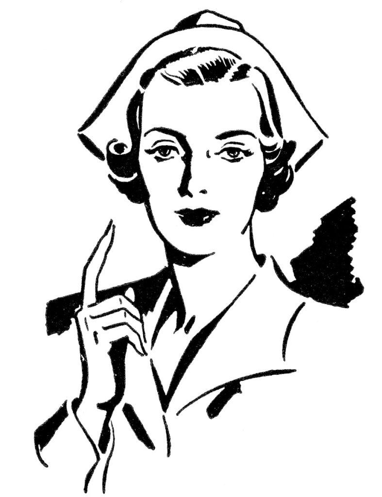 vintage nurse uniform illustration