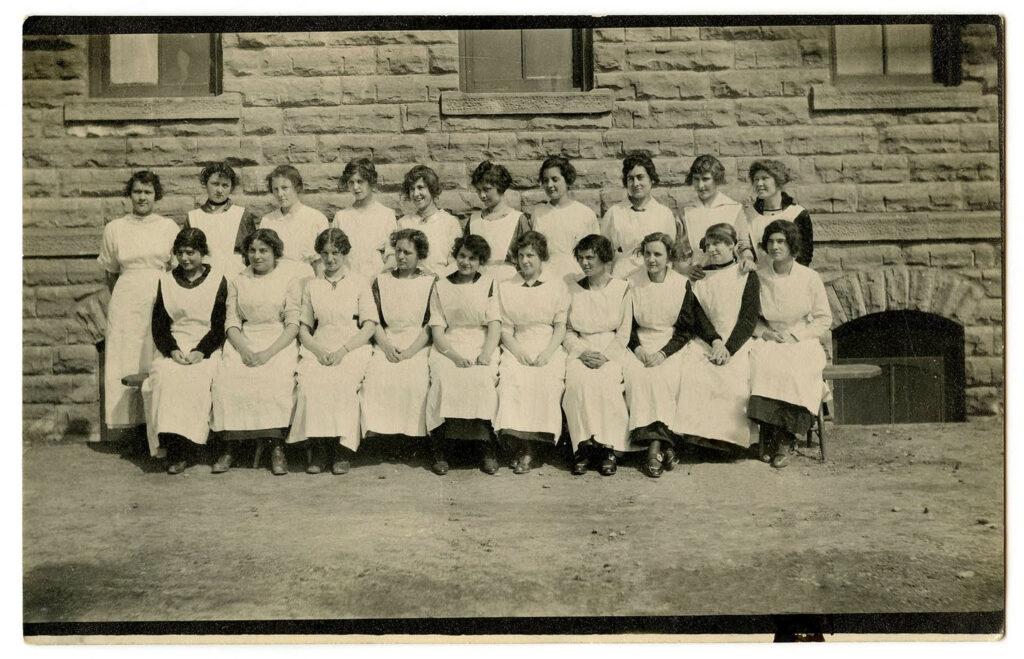 vintage nurse class photograph image