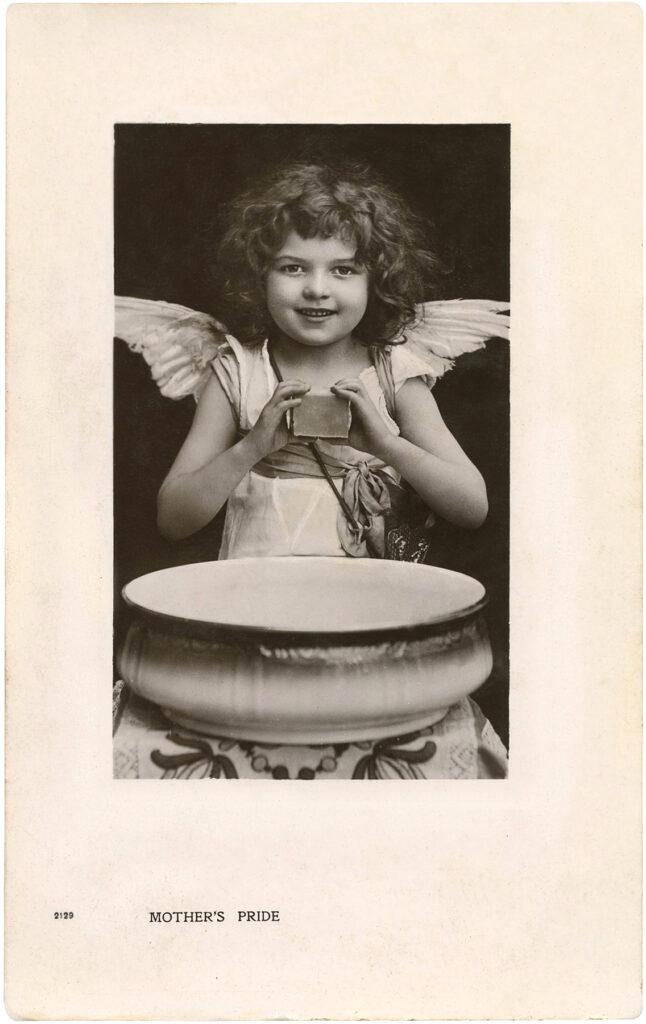 antique girl angel costume photograph image