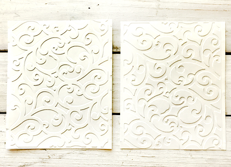 Positive and Negative Embossing Examples