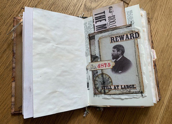 reward wanted poster journal page