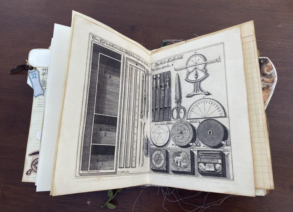 Scientific instrument junk journal page