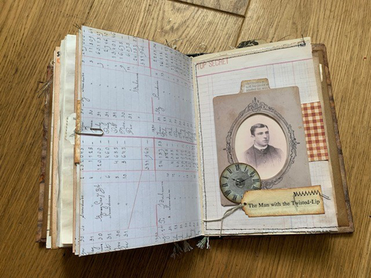 antique photo journal page