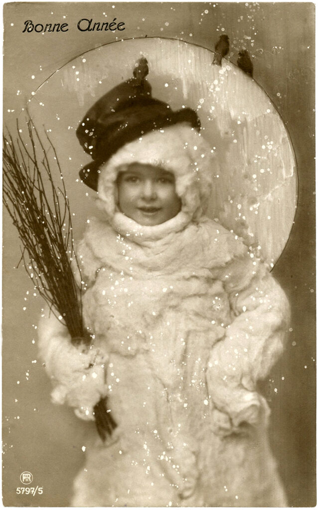 vintage child snowman costume photo image
