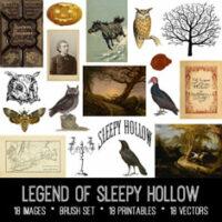 vintage Legend of Sleepy Hollow ephemera bundle