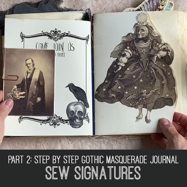 Gothic Masquerade Journal sew signatures tutorial