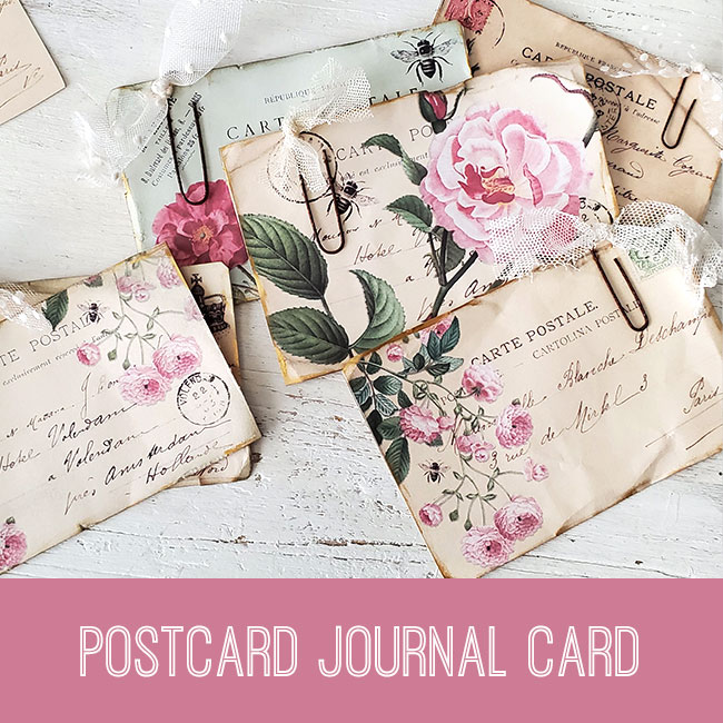 PSE tutorial Postcard Journal Card