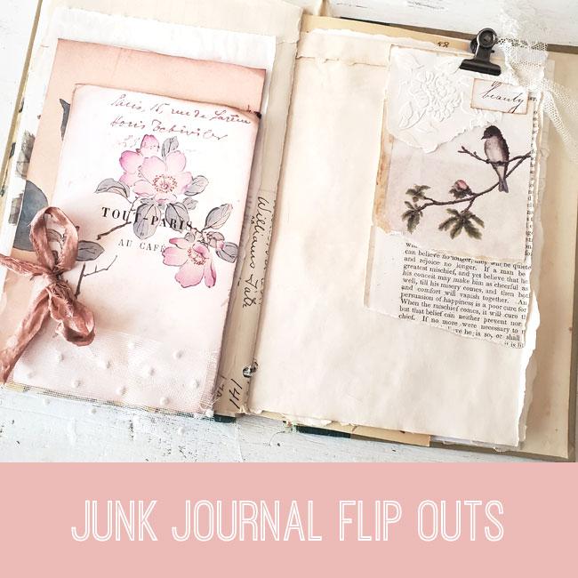 junk journal flip out tutorial