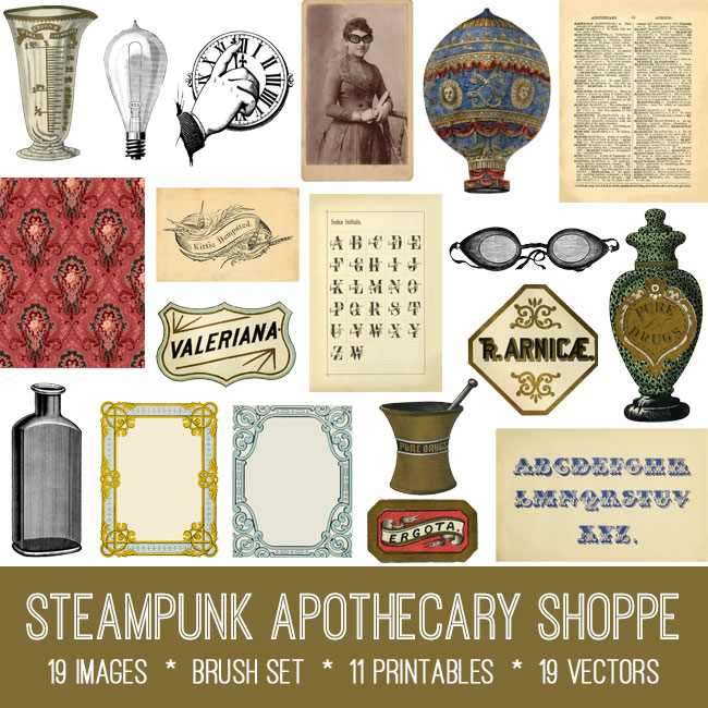 Steampunk Apothecary Shoppe Image Bundle