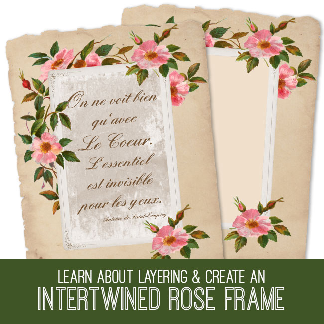 interntwined rose frame pse tutorial